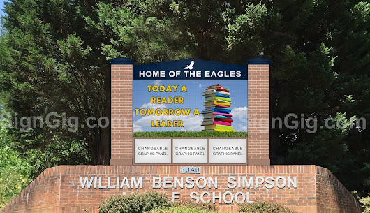 Simpson Middle School in Cobb County, Georgia demands attention with their new LED display!