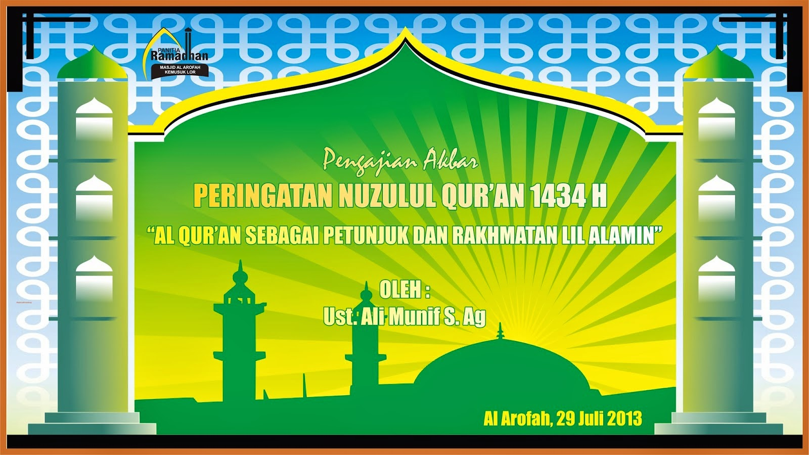 Desain Spanduk Nuzulul Qur'an Coreldraw