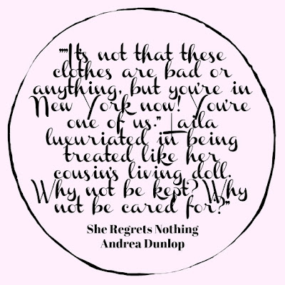 She Regrets Nothing by Andrea Dunlop, review by Tomes and Tequila