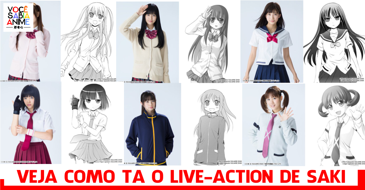 Veja o visual do elenco do novo live action de Saki