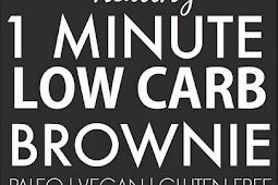 Healthy 1 Minute Low Carb Brownie