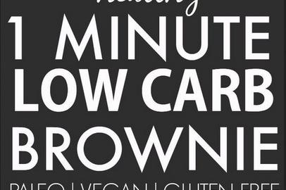 Healthy 1 Minute Low Carb Brownie - Paleo, Vegan, Gluten Free #healthybrownies #healthydesserts #lowcarb #vegan #paleo #glutenfree #healthyrecipes #brownies