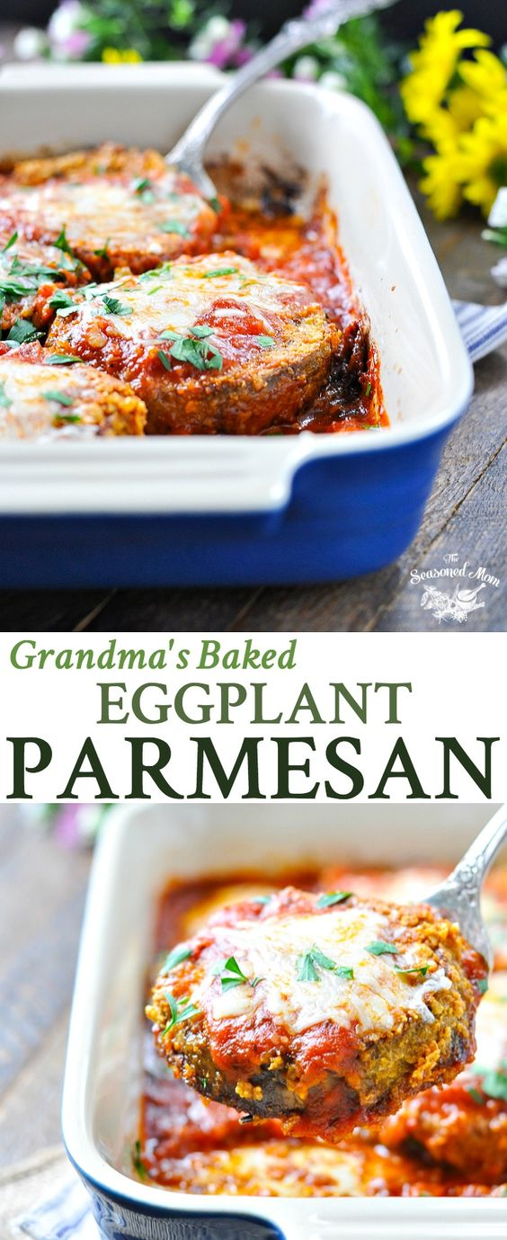 Grandma's Baked Eggplant Parmesan