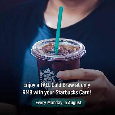 Starbucks Cold Brew Mondays RM8 Discount Offer Promo