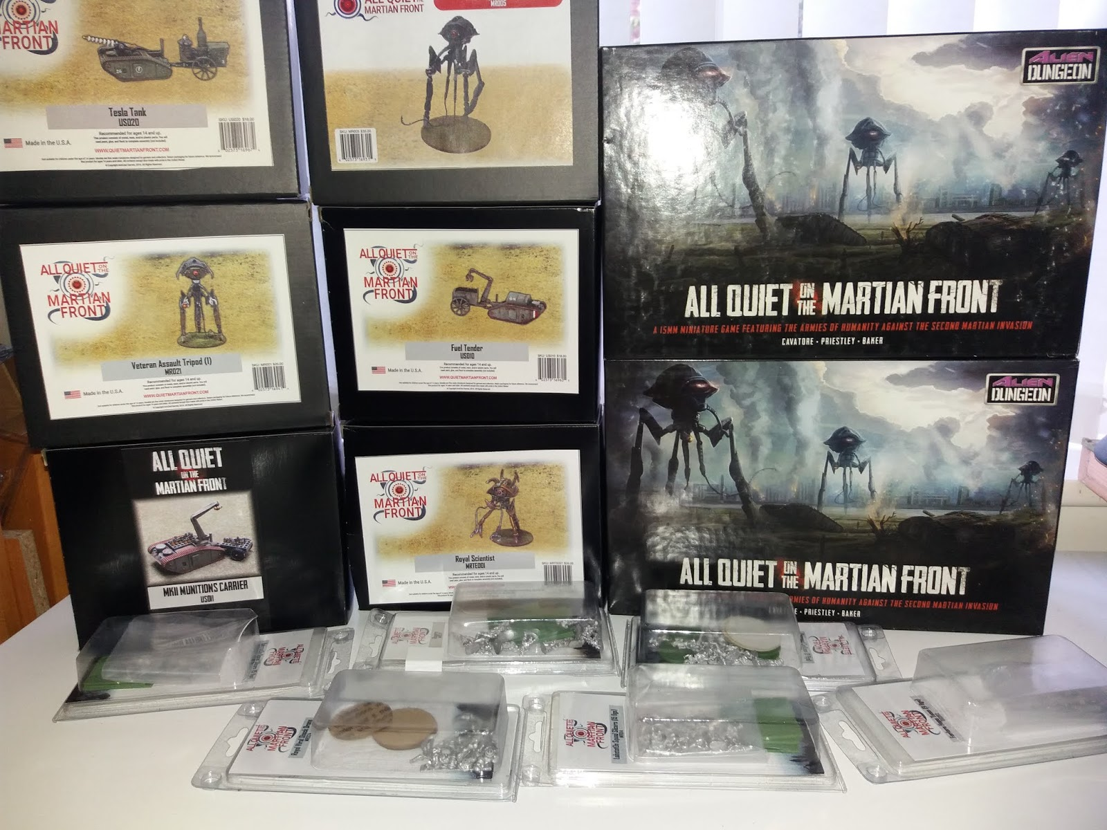 Aqmf wargaming the martian invasion: aqmf - meet my martians and