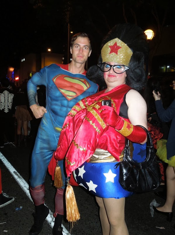 Superman Wonder Woman costumes West Hollywood Halloween