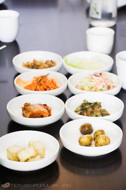 Side dishes in MARU, Korean Restaurant