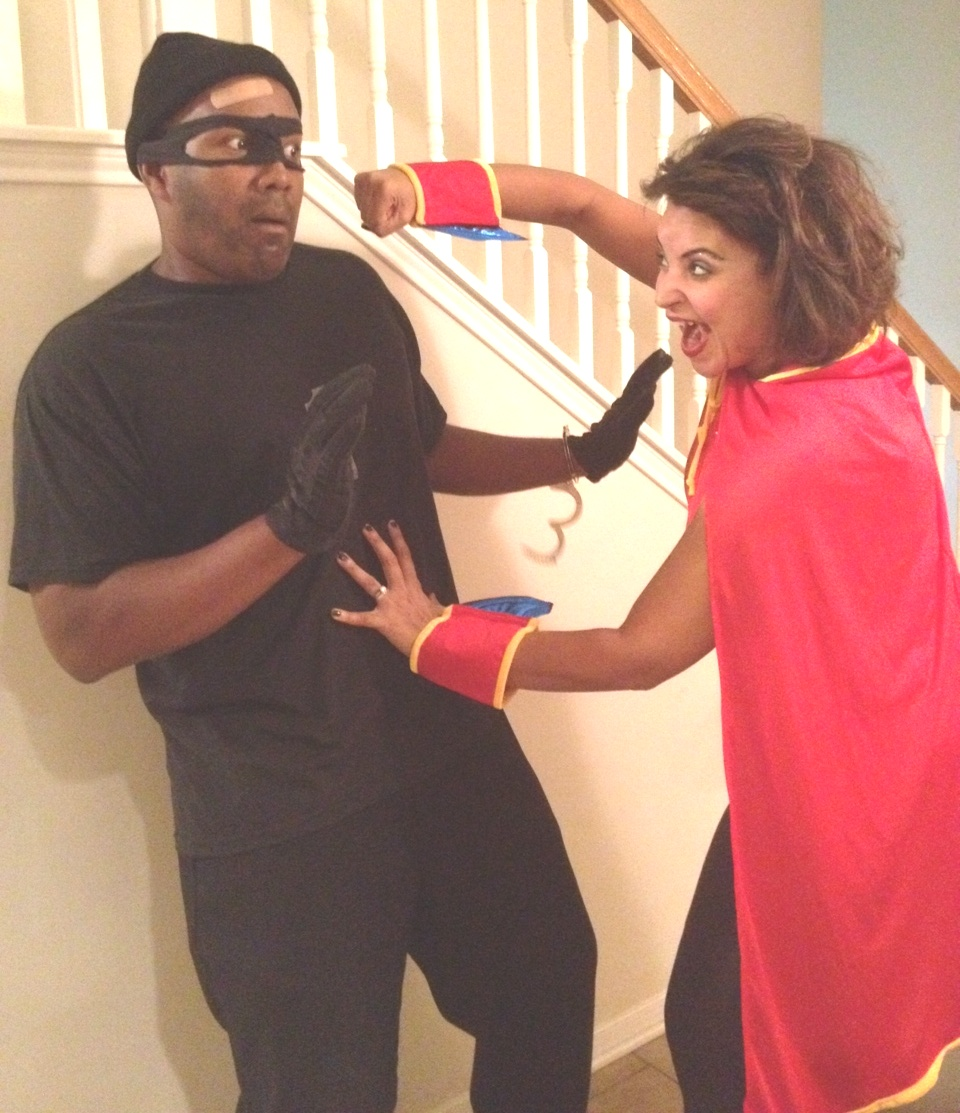 In a world infested with evil. Where crime had run amoku2026u2026u2026u2026u2026u2026 Two iniduals were left to fight to the finish. Of the same family. Once best friends  sc 1 st  Nicki Woo & Halloween Couple Costume: Super Heroine and Evil Villian/ Cat ...