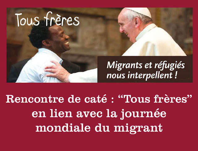 LE PAPE ET UN MIGRANTS
