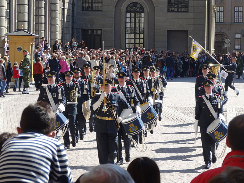 Changing of the Guards in Swedish Royal Palace