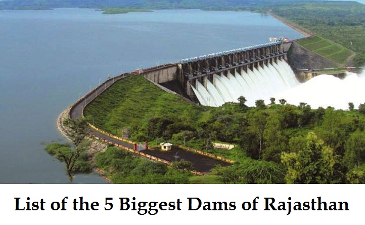 List of 5 Biggest Dams in Rajasthan