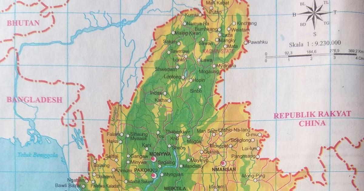 Peta Negara Myanmar 2018  Sejarah and World Maps
