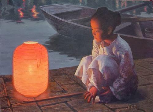 Children Paintings by Chinese Painter Zhu Yiyong