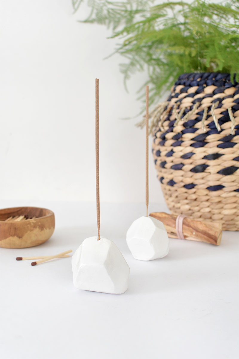DIY geo incense holder