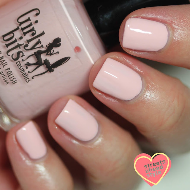 Girly Bits Peach Love and Joy swatch by Streets Ahead Style