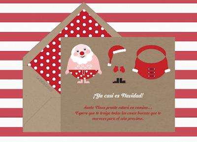 Cartas y postales de navidad para enviar