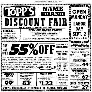 TOPPS Werbung 31. August 1963