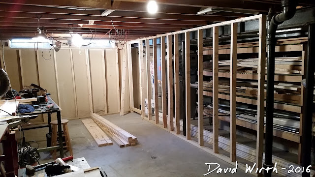 basement remodel stud wall, 2x4