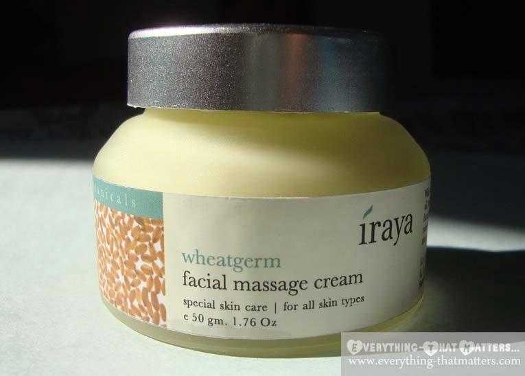 Iraya Wheatgerm Facial Massage Cream Review