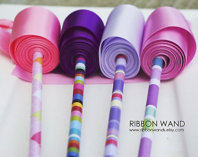 how to make gymnastic ribbon wands
