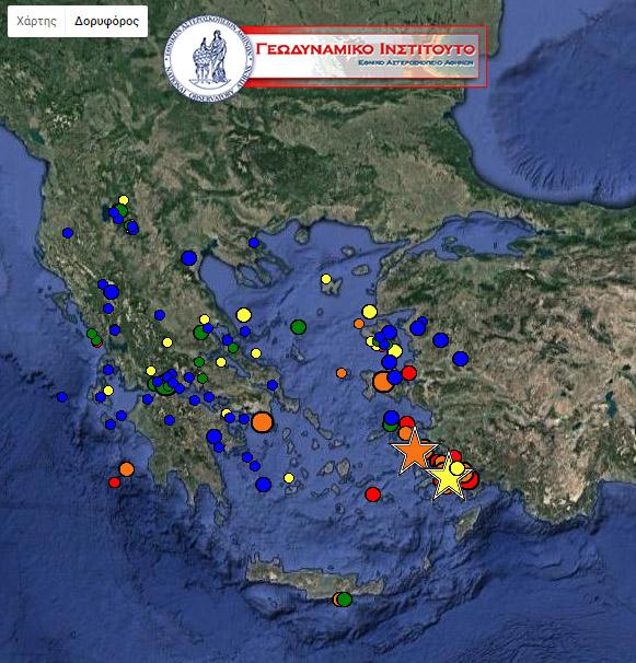 Αρκετοί οι μετασεισμοί στην Κω, μετά τον σεισμό των 6,4 Ρίχτερ