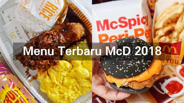 Menu Terbaru McDonald's 2018