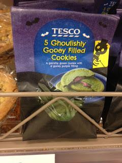 tesco ghoulishly gooey cookies
