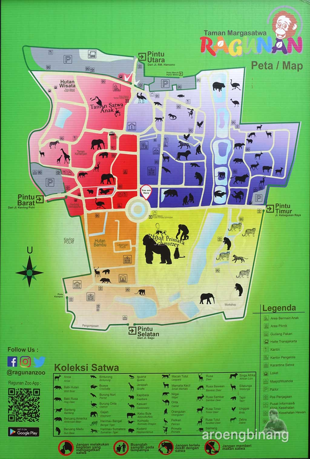 peta kebun binatang ragunan jakarta