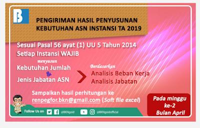 Info Update! BKN Terbitkan Surat Penyampaian Hasil Penghitungan Kebutuhan ASN TA 2019