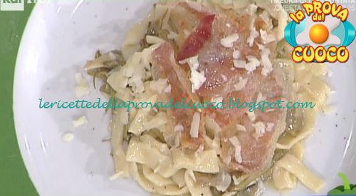 Sagne carciofi e guanciale ricetta Improta da Prova del Cuoco