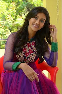 Actress Pooja Jhaveri Latest Stills in Purple Salwar Kameezt at Dwaraka Success Meet  0189.JPG