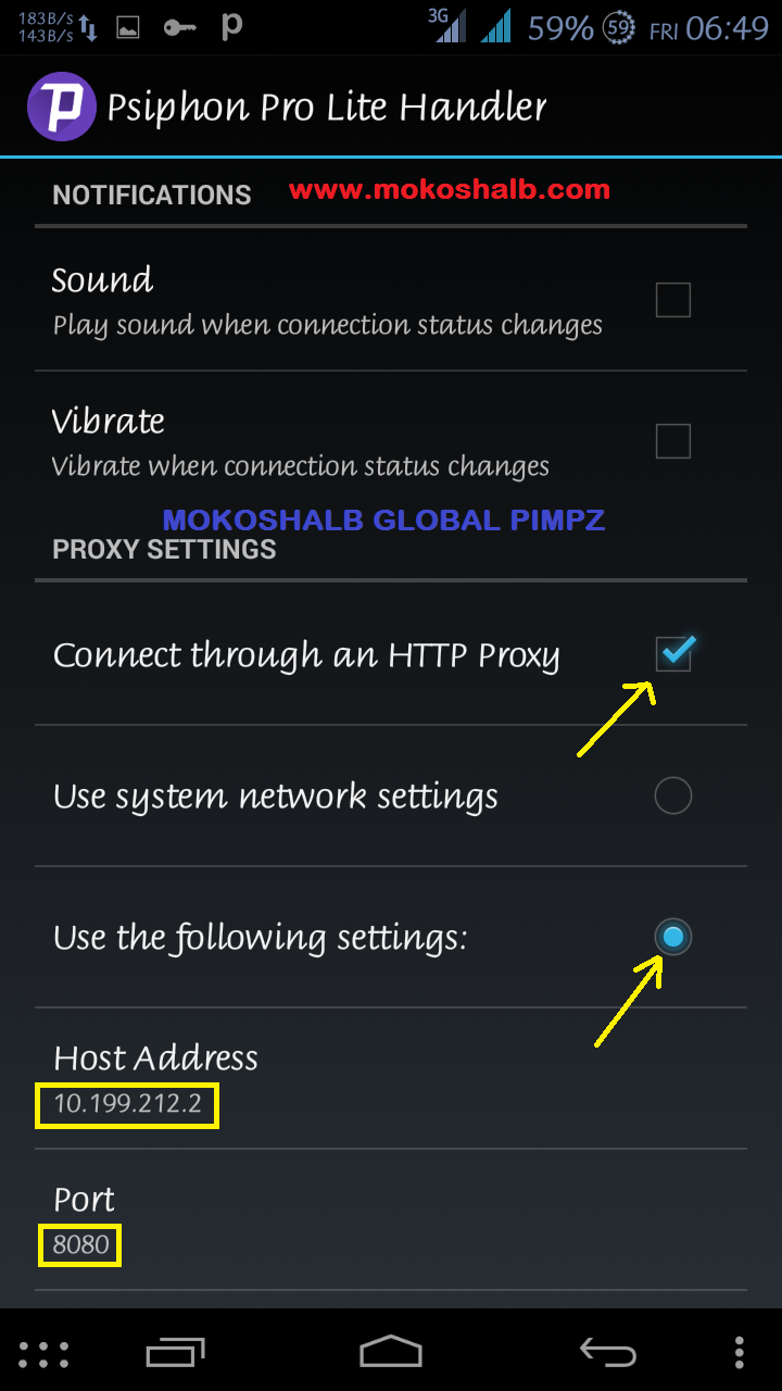 MTN Psiphon Settings For Blackberry Cheats On Android Phone