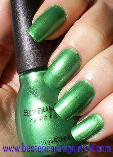 green nail arts images