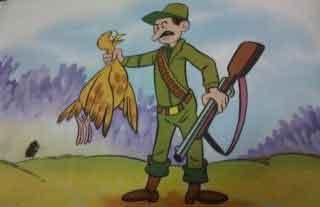 fabula el cazador y la alondra