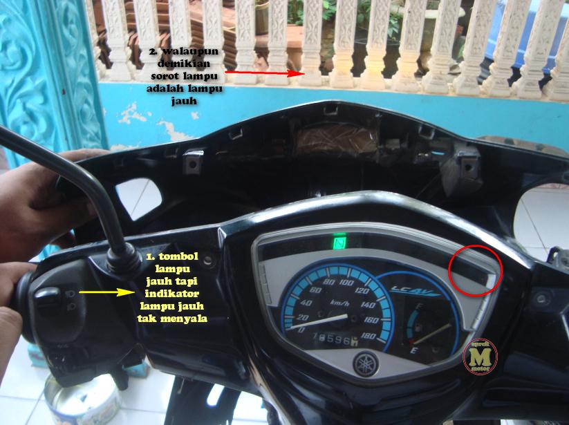 Posisi Sorot Lampu Jupiter MX 135LC Kebalik Pakai Bohlam Osram  Ubah Saja Kabelnya  Oprek Motor