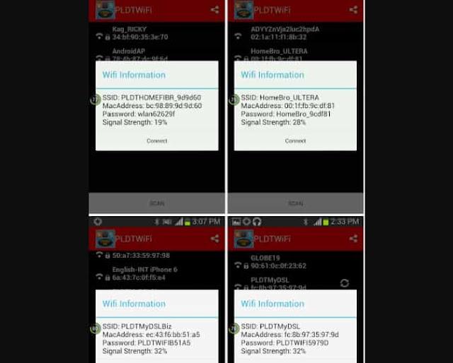 hasil scan dan hack wifi menggunakan pldt