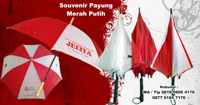 Souvenir payung 17 Agustus Kemerdekaan, payung promosi HUT RI, payung 17an, Souvenir di Perayaan HUT RI, grosir payung murah, payung warna merah putih
