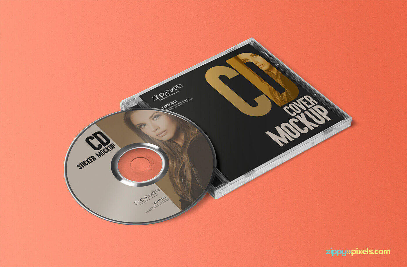 CD Sticker Mockup