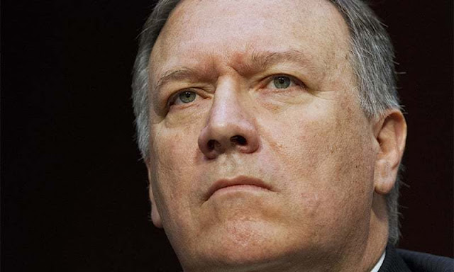 CIA Director Mike Pompeo listens while testifying on Capitol Hill in Washington - AP