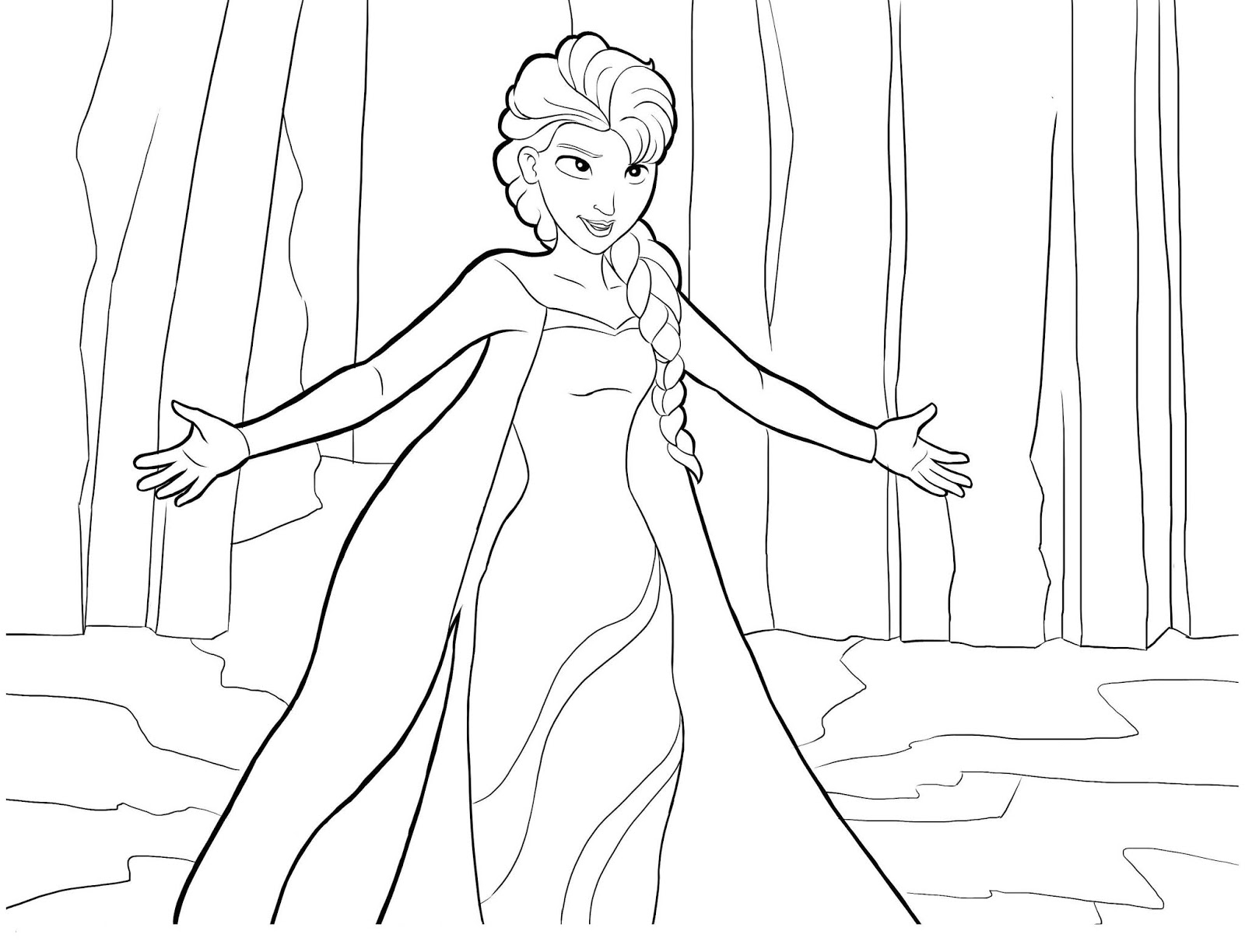 Tranh tô màu Elsa 6