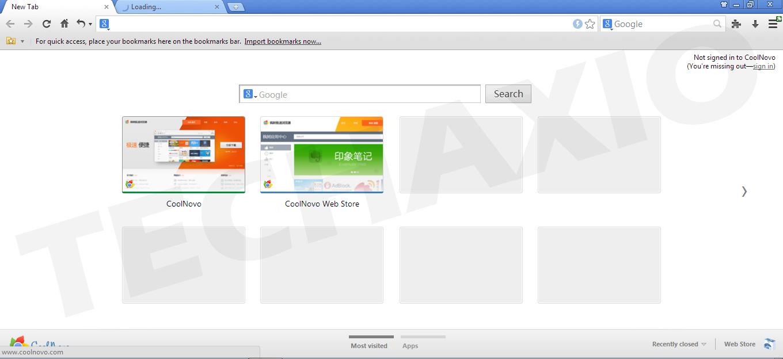 CoolNovo Browser Screenshot