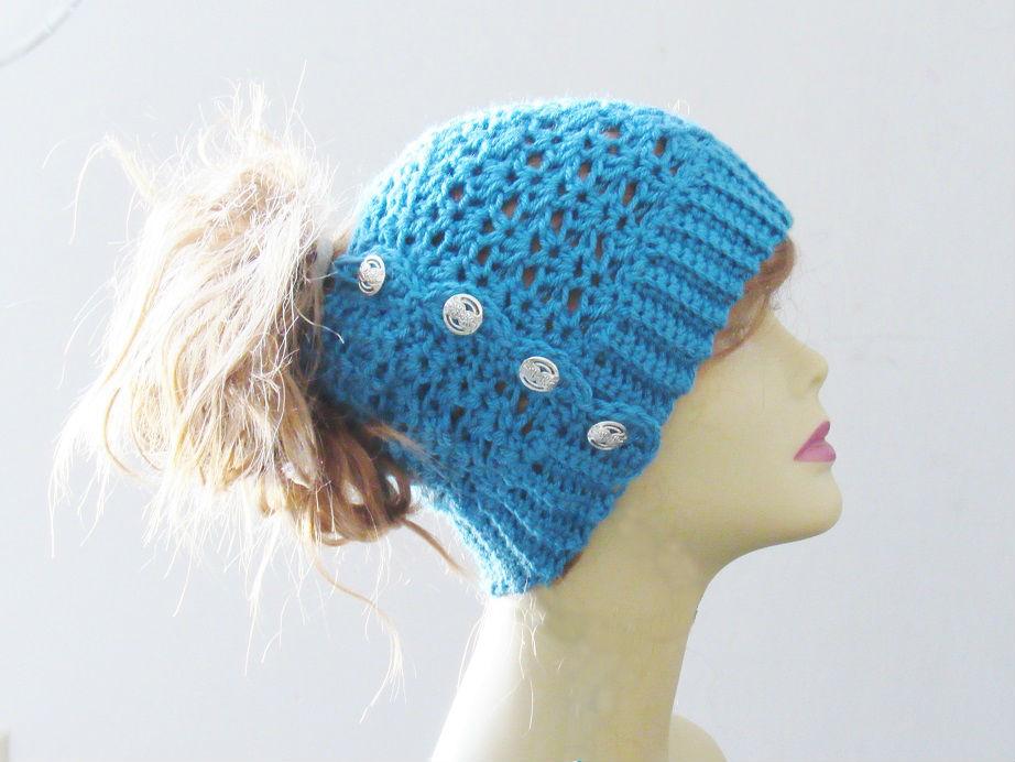Ponytail Or Messy Bun Hat Crochet Pattern Free Crochet Pattern