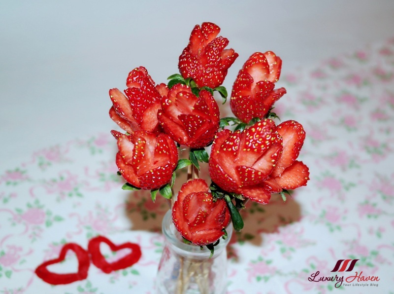 how to diy valentines day strawberry roses