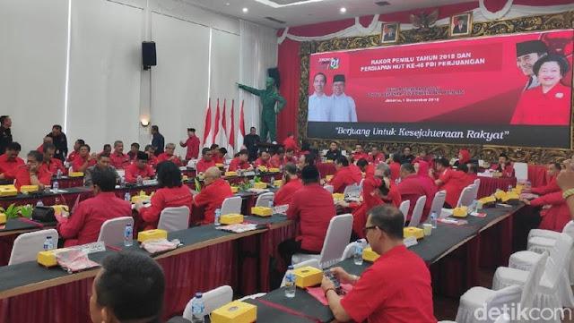 PDIP Gelar Rakornas, Pastikan Kemenangan Jokowi-Ma'ruf di Pilpres