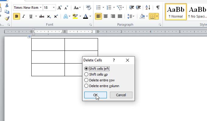 Chèn, thêm cột hay hàng trong bảng trong Word