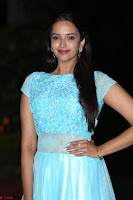 Pujita Ponnada in transparent sky blue dress at Darshakudu pre release ~  Exclusive Celebrities Galleries 072.JPG