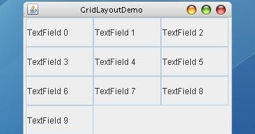 How to use GridLayout in Java using Swing ?    Learn Java by