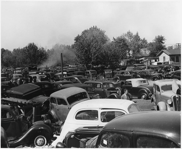 50 Vintage Photos Of Classic Car Salvage Yards And Wrecks