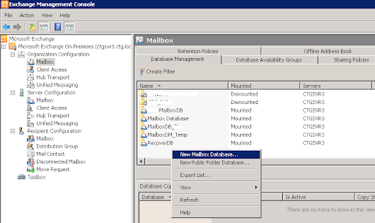 Tạo Mail Box trên Exchange Management Console