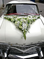 K'Mich Weddings in Philadelphia PA - wedding planning - wedding decor - vintage car with floral decor on the hood